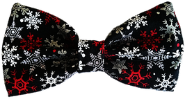 Happy Howlidays Black Bow Tie