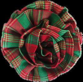 Pawsome Plaid Christmas Fabric Flower-BLOWOUT SALE