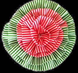 Puppermint Stripe Fabric Flower-BLOWOUT SALE