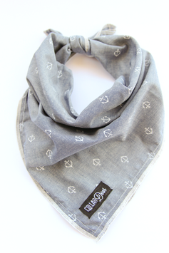 New! Captain Light Blue Chambray Knotted Bandana