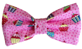 Pupcake Pawty Pink Bow Tie