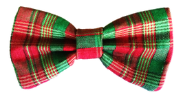 Pawsome Plaid Chrismutt Bow Tie