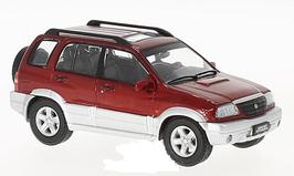 Suzuki Grand Vitara Phase II 2001-2005 dunkelrot met. / silber met. 1:43 von Triple9 Collection