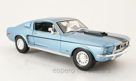 Ford Mustang GT Cobra Jet Fastback 1968 hellblau met. / schwarz