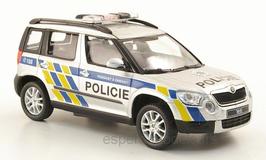 Skoda Yeti Phase I 2009-2013 Mestska Policie Ceska Budejovice silber / blau / gelb