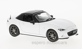Mazda MX-5 IV seit 2015 RHD weiss Verdeck schwarz geschlossen
