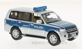 "Mitsubishi Pajero IV Phase II seit 2012 ""Polizei Deutschland"" silber / blau"