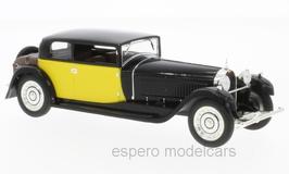 Bugatti 41 Royale Coach / Weymann 1929 schwarz / gelb