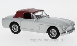 Aston Martin DB2 MK III DHC Convertible 1957-1959 RHD silbergrau met. Verdeck geschlossen rot