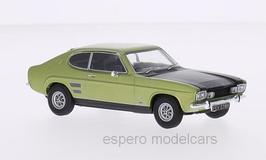 Ford Capri MK I 1600GT XLR 1968-1973 RHD hellgrün met. / schwarz
