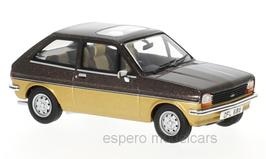 Ford Fiesta MK I 1.1 Sandpiper II 1981 RHD dunkelbraun met. / gold met.