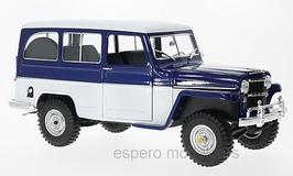 Jeep Willys Station Wagon 1954 dunkelblau / weiss