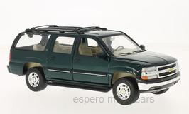 Chevrolet Suburban XLT 2000-2006 dunkel grün met. 1:24 von Welly