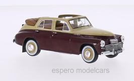 Wolga / GAZ M20 Pobeida Cabriolet 1946- 1958 dunkelrot / beige