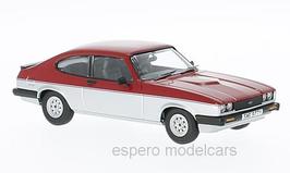 Ford Capri MK III 1.6 Calypso 1982 RHD rot / silber