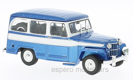 Jeep Willys Station Wagon 1946-1965 blau met. / weiss