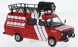 Ford Transit MK II 1985 Rally Assistance R-E-D rot / weiss RHD