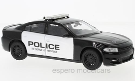 Dodge Charger LX II R/T Phase II seit 2015 Police schwarz / weiss