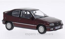 Vauxhall Astra GTE-16V 1987-1992 RHD dunkelrot met.