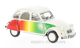 "Citroën 2CV ""Lustiano"" 1986 weiss / rot / gelb / grün"