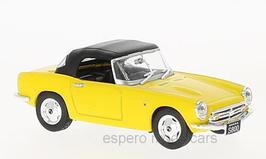 Honda S800 Roadster 1966-1970 gelb / Verdeck geschlossen schwarz