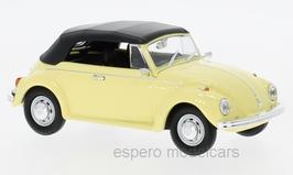 VW Käfer 1302 Cabriolet 1970-1972 hellgelb / Verdeck geschlossen schwarz