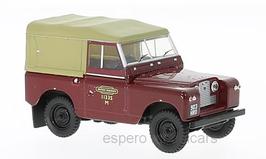 """Land Rover Series II SWB 1958-1971 RHD """"British Railways"""" Softtop dunkelrot / beige"""