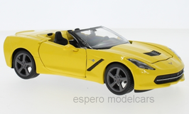 Chevrolet Corvette Stingray C7 Convertible 2014-2019 gelb