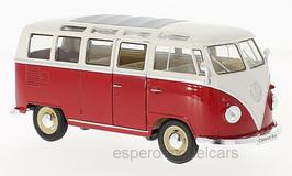 VW T1b Samba Bus 1961-1963 dunkelrot / weiss