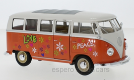 VW T1b Bus 1960-1963 Flower Power orange / weiss / Decor