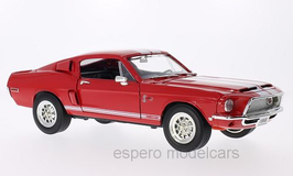Ford Mustang Shelby GT-500KR 1968 rot / weiss