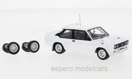 Fiat 131 Abarth 1976-1980 weiss Plain Body Version inkl. 4 Zusatzräder