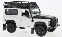 Land Rover Defender mit Dachträger 1990-2016 weiss / schwarz