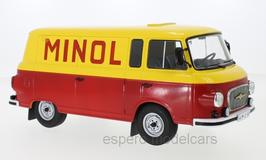 """Barkas B 1000 Kastenwagen 1960-1991 """"Minol rot / gelb"""""""