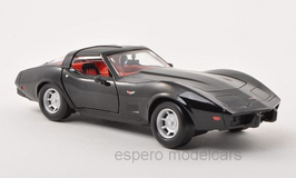 Chevrolet Corvette C3 Phase II 1978-1982 schwarz