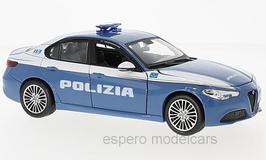 Alfa Romeo Giulia 952 seit 2016 Polizia hellblau / weiss