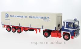 """Scania LBT 141 LKW Sattelschlepper 1976 """"Wolter Koops blau / rot / beige"""