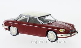 Panhard 24 BT Berline 1964-1967 dunkel rot / creme