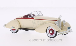 Packard V12 Le Baron Speedster 1934 beige / rot