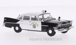 Plymouth Savoy 1957-1959 California Highway Patrol schwarz / weiss