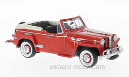 Jeep Willys Jeepster VJ 1948-1950 rot