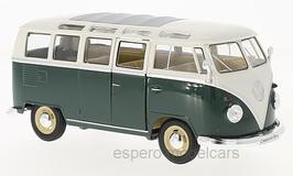 VW T1b Samba Bus 1961-1963 dunkelgrün / weiss