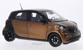 Smart Forfour II W453 Phase I 2014-2019 dunkelbraun met. / schwarz