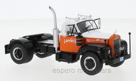"""Mack B 61 LKW Zugmaschine 1953 """"Laporte weiss / orange / schwarz"""""""