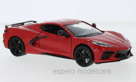 Chevrolet Corvette C8 Stingray seit 2020 rot / schwarz