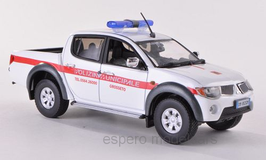"Mitsubishi L200 Pick Up 2006-2016 weiss / rot ""Polizei Italien / Municipale Crosseto"""