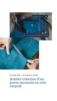 Atelier création de porte-monnaie en cuir 26/06/2021