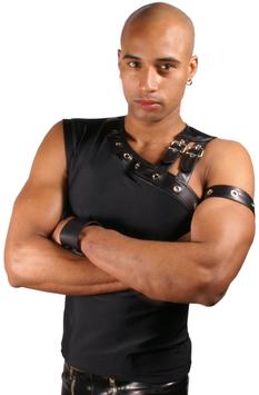 Sexy Tank mit Oberarmband schwarz