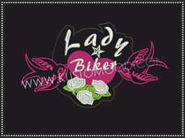 LADY BIKER BIRDS