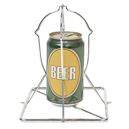 Folding Stainless Beer Can Chicken Roaster - Bierhähnchenhalter